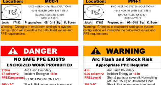 Arc Flash Label3